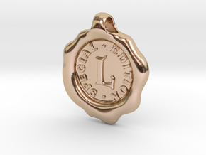 Seal Pendant L in 14k Rose Gold Plated Brass