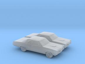 1/160 2X 1967 Pontiac GTO in Smooth Fine Detail Plastic