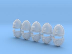 Blood Drop & Chalice Shoulder Pads Mk7/8 x10 #1 Sm in Smooth Fine Detail Plastic