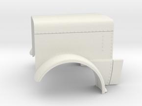 Peterbilt 389 Hood  1/24 scale in White Natural Versatile Plastic
