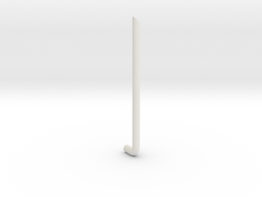 1/24 scale Peterbilt 389 muffler LH in White Natural Versatile Plastic
