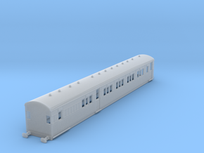 o-148fs-secr-continental-brake-first-coach in Smooth Fine Detail Plastic