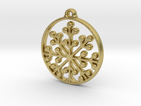 Floral Pendant VII in Natural Brass