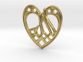 Creator Pendant in Natural Brass
