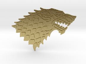 House Stark Buckle in Natural Brass