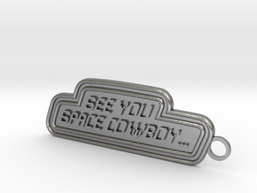 Space Cowboy Keychain in Natural Silver