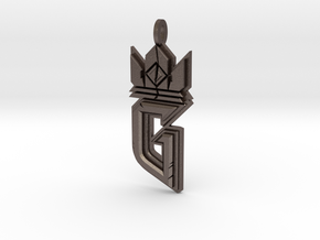 Witcher Gwent Logo in Polished Bronzed-Silver Steel