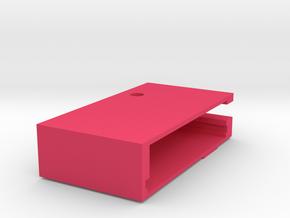 EndStopCaseY in Pink Processed Versatile Plastic