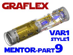 Graflex Mentor - Var1 Part09 - Main Gen Style 1  in White Natural Versatile Plastic