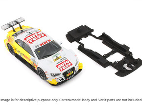 S01-ST3 Chassis for Carrera Audi A5 DTM SSD/LMP in White Processed Versatile Plastic