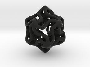 Little Stars Pendant in Black Natural Versatile Plastic