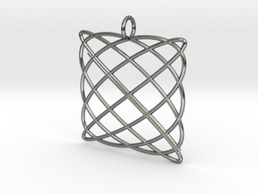 Lissajous Pendant in Polished Silver