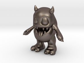Baby Monster in Polished Bronzed-Silver Steel