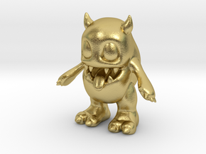 Baby Monster in Natural Brass