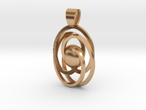 Abstract atom [pendant] in Polished Bronze