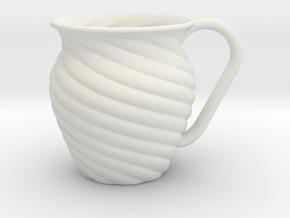 Decorative Mug in White Natural Versatile Plastic