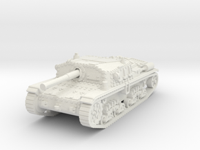 Semovente M42 75/34 1/87 in White Natural Versatile Plastic