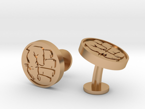 Hulk Fist Cufflinks in Polished Bronze