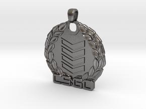 CS:GO - Silver 4 Pendant in Polished Nickel Steel