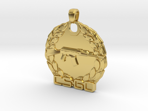CS:GO Master Guardian Pendant in Polished Brass