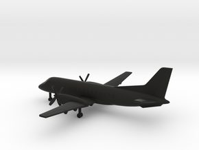 Saab 340 A in Black Natural Versatile Plastic: 6mm