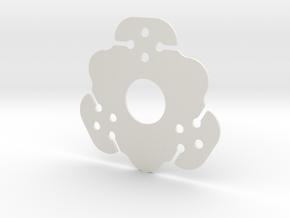 NicNac'3   B in White Natural Versatile Plastic