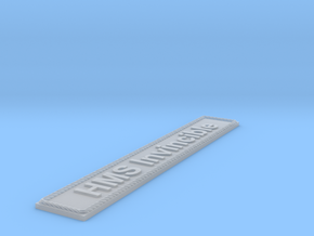 Nameplate HMS Invincible in Smoothest Fine Detail Plastic