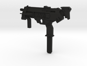 1:3 Miniature Sombra Machine Pistol in Black Natural Versatile Plastic