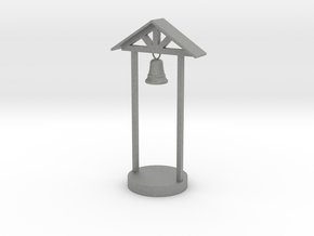 O Scale School Bell in Gray PA12