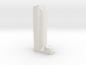 Three First National Plaza - Chicago (1:4000) in White Natural Versatile Plastic