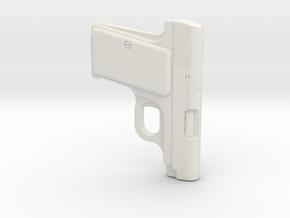 1:3 Miniature Browning M1906 Gun in White Natural Versatile Plastic