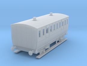 0-152fs-mgwr-4w-3rd-class-coach in Smooth Fine Detail Plastic