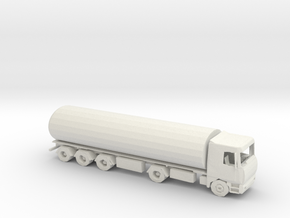HO Scale Tanker in White Natural Versatile Plastic