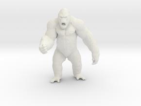 King Kong Kaiju Monster Miniature for games & rpg in White Natural Versatile Plastic