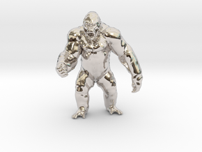 King Kong Kaiju Monster Miniature for games & rpg in Rhodium Plated Brass