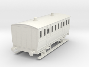 0-43-mgwr-4w-3rd-class-coach in White Natural Versatile Plastic