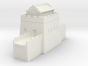 the grat wall of china 6mm 1/285  tower l roof  in White Natural Versatile Plastic