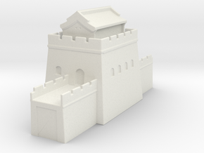 the great wall of china 1/350 tower l roof in White Natural Versatile Plastic