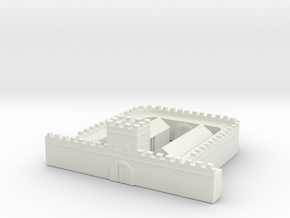 hadrian wall  1/600 2 Milecastle  long  in White Natural Versatile Plastic