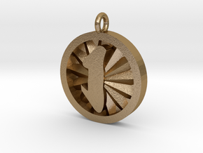 Brilliance Ashe Pendant in Polished Gold Steel