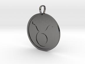 Taurus Medallion in Polished Nickel Steel