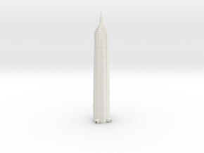 Jin Mao Tower - Shanghai (6 inch) in White Natural Versatile Plastic
