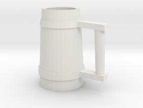 Drinking Stein 02 in White Natural Versatile Plastic