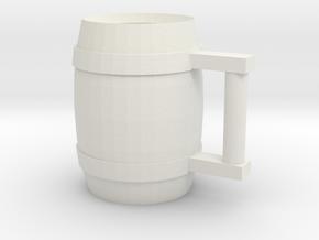 Drinking Stein 03 in White Natural Versatile Plastic
