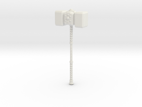 War Hammer 1 in White Natural Versatile Plastic