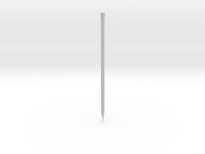 Finishing Stud 1.2mm x 2.9cm in White Natural Versatile Plastic