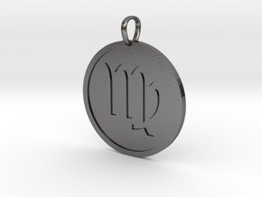 Virgo Medallion in Polished Nickel Steel