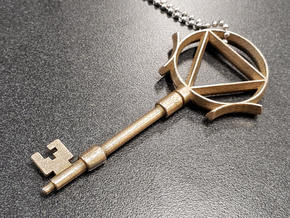 Time Key in Polished Bronzed Silver Steel
