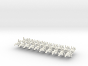 Confederate Speeder Bikes in White Natural Versatile Plastic