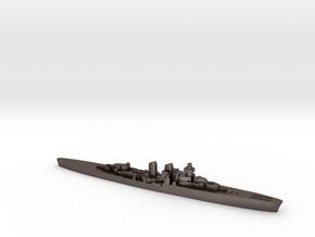 Giuseppe Garibaldi light cruiser 1:3000 WW2 in Polished Bronzed-Silver Steel